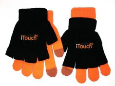 As seen on TV!This is the iTouch (tm) glove. The glove allows you to stay warm while sending text messages and other functions for your touch screen devices. At the tip of the index finger and thumb, there is a special conductive magnetic fibre that allows you to use the touch-screen device with the same (if not better) responsiveness you would get from your finger.