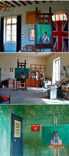 ARTIST ART STUDIO'S ALEX RUSSELL FLINT'S STUDIO