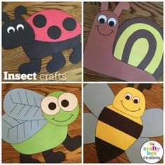 These insect crafts are so cute! Use them to pair with a lesson and get students excited about learning about bugs and insects.