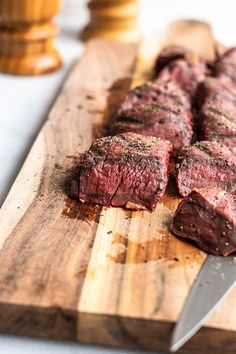 This Smoked Venison Tenderloin is marinated in a fresh, citrus marinade before spending time in the smoker. It's tender, flavorful, smokey and juicy and totally easy to do. Deer Backstrap Recipes, Deer Tenderloin Recipes, Venison Backstrap, Venison Tenderloin, Venison Steak, How To Cook Venison, Roast Brisket, Pork Roast, Carne