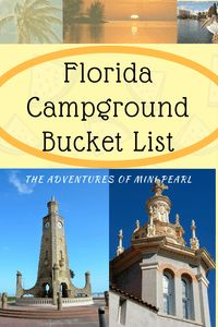 Florida is not my native home. We moved here about 5 years ago and there is sooo much to see and do here in this sunny state! I have a bucket list for so many things such as restaurants, theme. Florida Camping, Rv Camping, Florida Campgrounds, Reading Themes, Taj Mahal, Bucket, Adventure, 5 Years, Restaurants