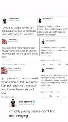 Youtuber Dan Howell Tweet Mug by TwitterpatedCentury on Etsy