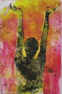 Tips and Resources for monotype Printmaking without a Press with Linda Germain, videos, instructions and inspiration