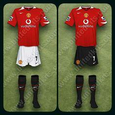 Man Utd home kits for 2004-06.