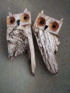 Chouette ou hibou par ashtray – rustic interior decoration - ALL ABOUT Driftwood Projects, Driftwood Art, Rustic Fireplaces, Owl Crafts, Junk Art, Farmhouse Christmas Decor, Rustic Christmas, Nature Crafts, Recycled Art