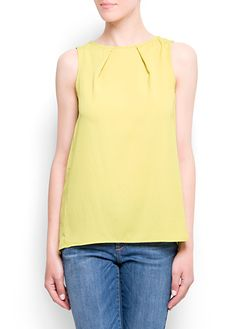 MANGO - CLOTHING - Loose-fit pleated top
