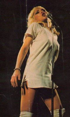 Debbie Harry and Blondie live at The Roundhouse, London march 1978 (white outfit)