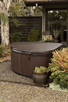 The perfect hot tub for a small backyard. Invest in wellness and create the perfect outdoor retreat.