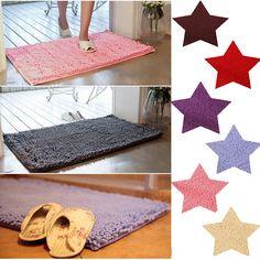 50x30cm Chenille Non Slip Absorbent Bathroom Rug Floor Carpet Door Mat