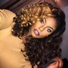2018 Winter Hair Color Ideas for Black Women. Bold and Vibrant hair color shades for the winter 2018 season. This winter it's time to break free from mundane hair shades of black and brown an… Curly Weave Hairstyles, Curly Hair Styles, Natural Hair Styles, Pelo Natural, Natural Curls, Winter Hairstyles, Hairstyles 2018, Black Hairstyles, Wedding Hairstyles
