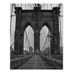 The Brooklyn Bridge in New York City Posters. Getty Images