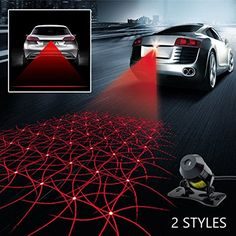 Unique Einskey Anti Collision Rear end Car Laser Tail Fog Light Auto Motorcycle Brake Parking Lamp Rearing Warning Light Safety Alarm Accessories Grid Pattern