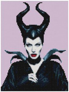 PDF Cross Stitch pattern 0006.Maleficent INSTANT por PIXcross