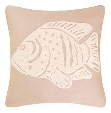 Sand Dunes Fish Throw Pillow | OceanStyles.com