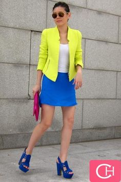 beautiful colorblocked outfit