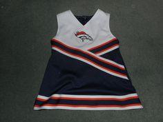 Toddler Girls Blue, Orange DENVER BRONCOS NFL Cheerleader Dress, Size 2T, GUC! #NFLTEAMAPPAREL #DenverBroncos