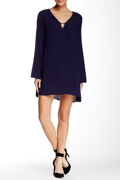 Cutout Long Sleeve Shift Dress by ASTR on @nordstrom_rack