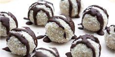 I Quit Sugar - Peppermint Bliss Balls recipe by Lillian Dikmans Sugar Detox Recipes, Sugar Free Recipes, Raw Food Recipes, Sweet Recipes, Snack Recipes, Dessert Recipes, Weekly Recipes, Fodmap Recipes, Healthy Recipes