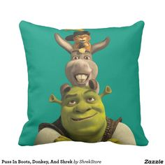 Your Name Personalized Shrek Pillow Case Custom Made w