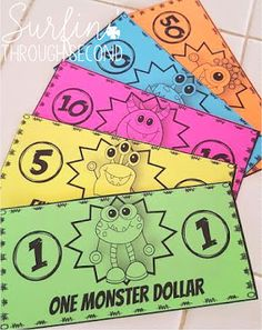 Monster Money-Classroom Economy System by Surfin' Through Second Classroom Jobs Board, Classroom Economy System, Classroom Money, Monster Theme Classroom, Classroom Rewards, Future Classroom, Classroom Themes, Classroom Management, Classroom Organization