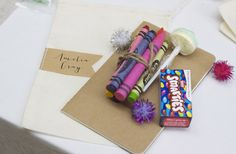 """For kids... Put one of these on each of their plates with a blank card.. """"color a card for the bride"""""""