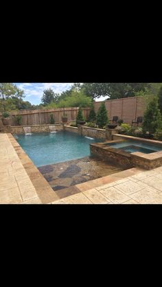 Not so much this pool but I do like the walls with the waterfalls and the landscaping around the pool