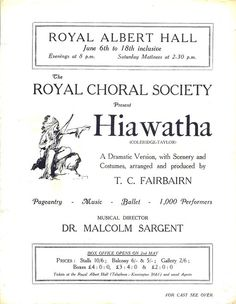 "Samuel Coleridge-Taylor's ""Hiawatha"""