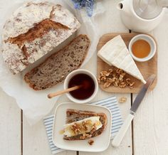 Eltefritt valnøttbrød Bread Maker Recipes, Baking Recipes, No Knead Bread, Savoury Baking, Bread Board, Fika, Scones, Buffet, French Toast