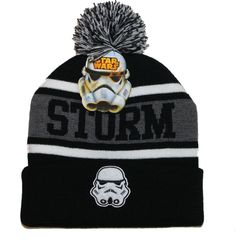 Disney Star Wars Stormtrooper Knit Pom Beanie Winter Hat Nerd Block  de4a4ff335