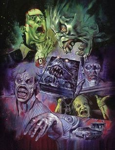 "Horror Movie Art : ""Evil Dead"" by Graham Humphreys Evil Dead Trilogy, Evil Dead Movies, Terror Movies, Scary Movies, Cult Movies, Horror Posters, Horror Icons, Horror Films, Movie Posters"