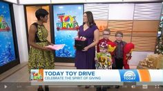 Amy DeLine of Onondaga appeared this morning on national TV to give a donation from Avon to the show's annual toy drive.