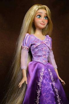 Purple Sparkle Rapunzel Tangled Barbie Doll Crown Tiara Doll Disney Princess