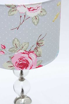 English Rose Grey Lampshade