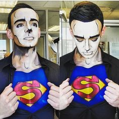 Preview of a comic/pop art Superman I did today in preparation for Halloween using mehron body paints. Thanks @kittysmile007 for the helping hand and Lean for being such a patient and epic Superman  @kohlmakeupsouthafrica #makeup #comic #superman #popart #popartmakeup #makeupartist #bodypaint #art #pop #capetown #create #mehron #mehronmakeup #kryolanofficial #kryolan #kryolanmakeup #Halloween #art #bodyart #capetowncreatives #kohlmakeupacademy #kohlmakeupcapetown