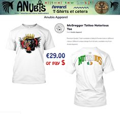 Another Awesomely cool Premium Quality #TShirt with unique Anubis Apparel(c) front & back designs. Design Requests welcome at Facebook.com/AnubisApparel #conormcgregor #ufc #notorious #shamrock #tattoo #ireland #irish #boxing #tshirt