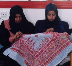 Amal Rehabilitation Center, Embroidery Project, Palestine Red Crescent Society, Khan Younis, Gaza
