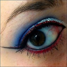 Happy 4th of July!     #makeup #eyeshadow #captainamerica