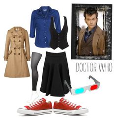 """""""Doctor Who: Ten"""" by goldenfirefly85 ❤ liked on Polyvore featuring Converse, ONLY, Orla Kiely and STELLA McCARTNEY"""