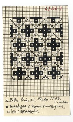 Eesti muuseumide veebivärav - Vigala khk, kindakiri Knitting Charts, Knitting Stitches, Knitting Patterns, Mittens Pattern, Knit Mittens, Lace Patterns, Craft Patterns, Fair Isle Chart, Charts And Graphs