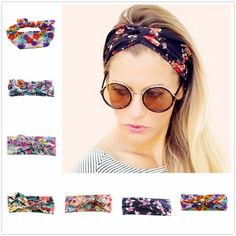 Flower print women headband Elastic Turban Twisted Knotted Headband Ethnic Floral Wide Stretch head Band Hair Accessories  #cute #ootd #instalike #stylish #beauty #shopping #sweet #swag #fashion #pretty