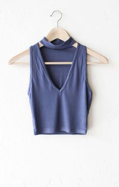 Choker V-neck Crop Top from NYCT Clothing. Saved to Style. Shop more products from NYCT Clothing on Wanelo.
