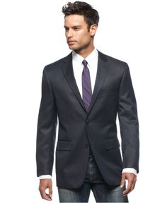 Man, a sports coat fixes EVERYTHING!   Alfani RED Jacket, Navy Neat Slim Fit Blazer - Mens Blazers & Sport Coats - Macy's
