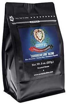 """Amazon.com : Scotty D's Jamaican Coffee """"Caribbean Lion"""" Blend (8 oz.) : Grocery & Gourmet Food Jamaican Coffee, Low Acid Coffee, Blue Mountain Coffee, Coffee Prices, Making Cold Brew Coffee, Coffee Tasting, Blended Coffee, Best Coffee, Coffee Beans"""