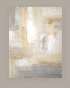 "Shabby Chic Original Painting Abstract Acrylic Art Titled: White Sands 6 36x48x1.5"" by Ora Birenbaum"