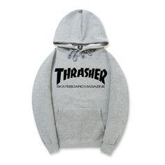 7a520c9fa5d Thrasher Hip Pop Hoodies Men Women Skateboard Fleece Men Couples Brand  Sweatshirt Pigalle Mens Suits Warm pull trasher