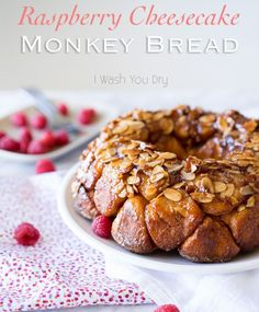 How To Make Monkey Bread | Raspberry Cheesecake Monkey Bread by Homemade Recipes at http://homemaderecipes.com/course/breakfast-brunch/how-to-make-monkey-bread