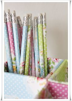 customised pencils and pencil holders with Greengate paper susi rydahl