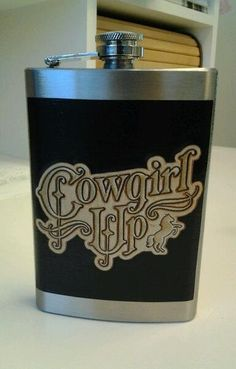 COWGIRL UP 8oz flask by TISASVINTAGEAFFAIR on Etsy, $18.00