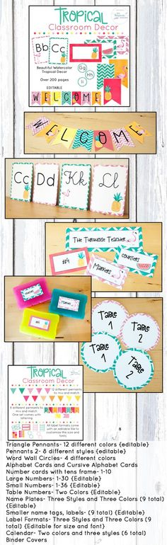 Beach theme pack for your classroom - banners, signs, labels, and Classroom Banner, First Grade Classroom, Classroom Setting, Classroom Setup, Future Classroom, Classroom Organization, Classroom Resources, Classroom Management, Alphabet Cards