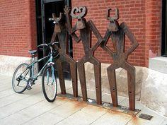 artistic bike racks in europe | Bike rack